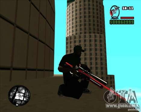 Chrome black red gun pack pour GTA San Andreas