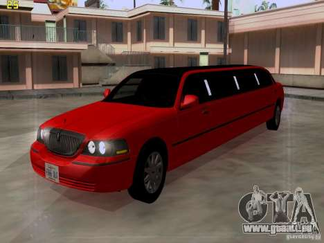 Lincoln Towncar 2010 für GTA San Andreas