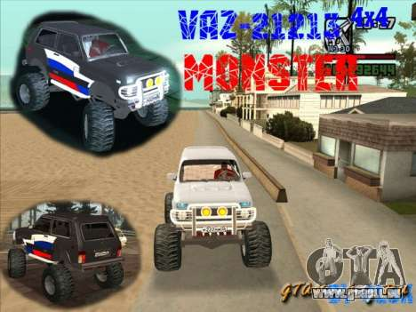 VAZ-21213 4x4 Monster pour GTA San Andreas