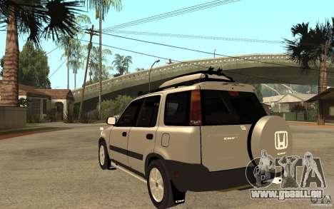 Honda CRV 1997 pour GTA San Andreas sur la vue arrière gauche