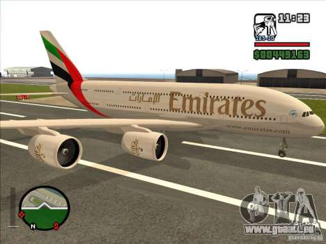 Boeing Emirates Airlines für GTA San Andreas