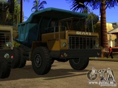 BELAZ 540 pour GTA San Andreas laissé vue