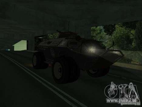 APC de GTA TBoGT FIV pour GTA San Andreas laissé vue