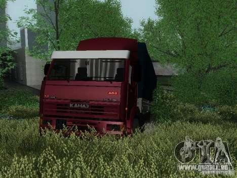 KAMAZ 65117 pour GTA San Andreas laissé vue