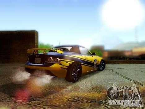 Mazda MX-5 2007 pour GTA San Andreas laissé vue