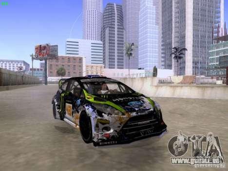 Ken Block Ford Fiesta 2012 für GTA San Andreas rechten Ansicht