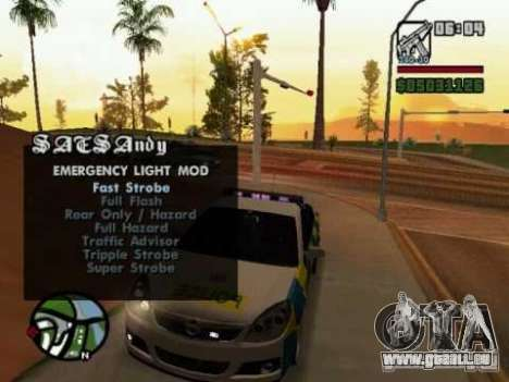 Emergency Lights für GTA San Andreas