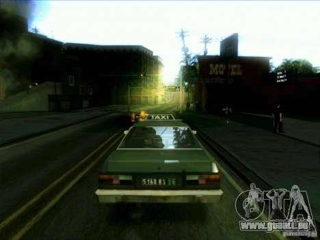 Un taxi de dri3r pour GTA San Andreas sur la vue arrière gauche
