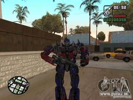 Optimus Prime pour GTA San Andreas quatrième écran