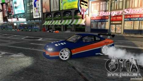 Nissan Silvia S15 Tokyo Drift pour GTA 4 est une vue de l'intérieur