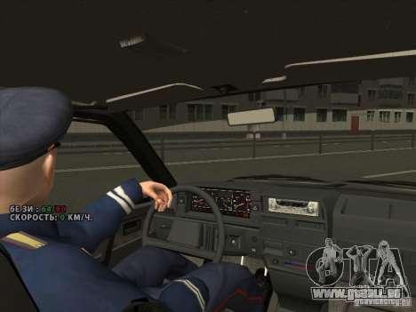 VAZ 2109 Drain V2 für GTA San Andreas Innenansicht