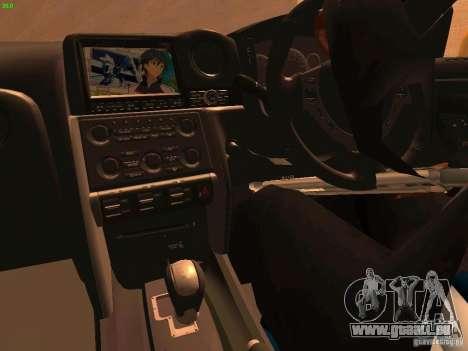 Nissan GT-R SpecV Black Revel pour GTA San Andreas vue de côté