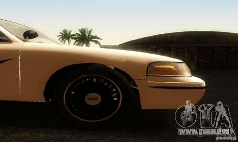 Ford Crown Victoria Washington Police für GTA San Andreas rechten Ansicht