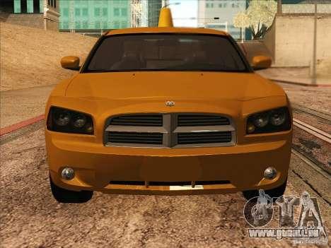 Dodge Charger STR8 Taxi für GTA San Andreas Rückansicht