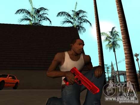 Red Chrome Weapon Pack pour GTA San Andreas cinquième écran
