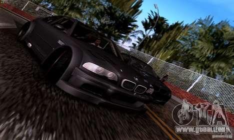 BMW M3 GTR v2.0 pour GTA San Andreas vue de côté