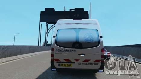 Mercedes-Benz Sprinter-Identification Criminelle für GTA 4 Rückansicht