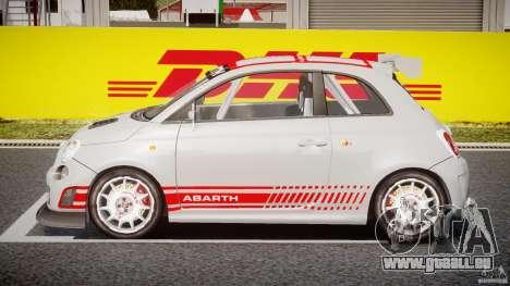Fiat 500 Abarth pour GTA 4 est une vue de l'intérieur