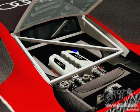Audi R8 LMS v2.0.1 für GTA San Andreas obere Ansicht