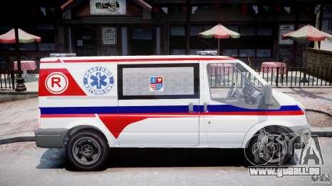 Ford Transit Polish Ambulance [ELS] pour GTA 4 Vue arrière