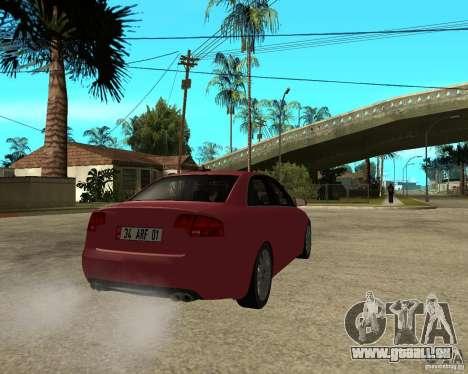 Audi S4 tunable pour GTA San Andreas sur la vue arrière gauche