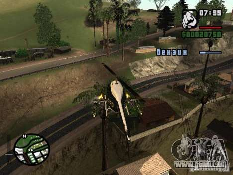 Mettre des armes sur n'importe quelle machine pour GTA San Andreas troisième écran