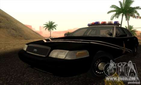 Ford Crown Victoria Idaho Police pour GTA San Andreas