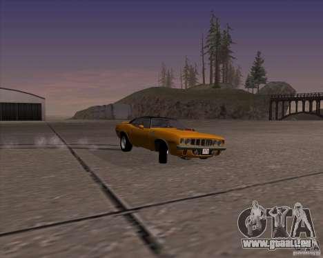 Plymouth Barracuda für GTA San Andreas Rückansicht