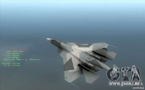 SU t-50 Pak FA für GTA San Andreas linke Ansicht