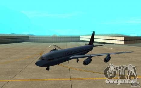 Qantas 707B für GTA San Andreas linke Ansicht