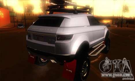 Land Rover Evoque für GTA San Andreas rechten Ansicht