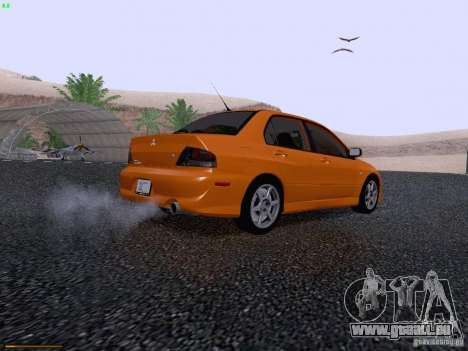 Mitsubishi Lancer Evolution VIII pour GTA San Andreas vue arrière