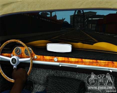 Mercedes Benz 300SL pour GTA San Andreas sur la vue arrière gauche