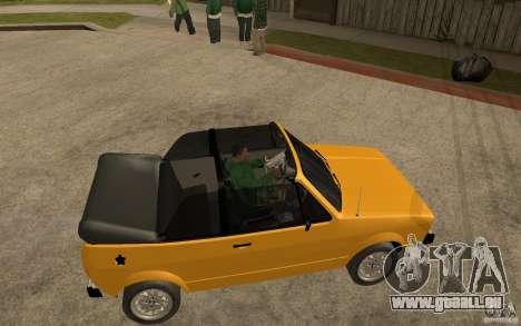 Volkswagen Golf MK1 Cabrio pour GTA San Andreas vue de droite