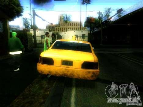 Sunrise Taxi pour GTA San Andreas sur la vue arrière gauche