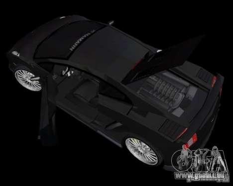 Lamborghini Gallardo Hamann Tuning pour GTA Vice City sur la vue arrière gauche