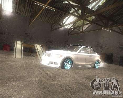 BMW 135i Hella Drift pour GTA San Andreas vue de droite