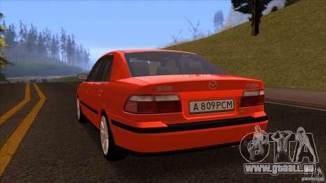 Mazda 626 Stock pour GTA San Andreas sur la vue arrière gauche