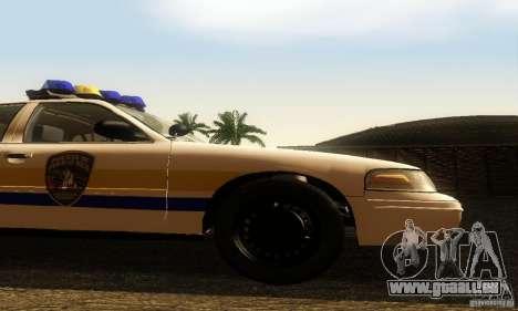 Ford Crown Victoria Puerto Rico Police pour GTA San Andreas vue de droite