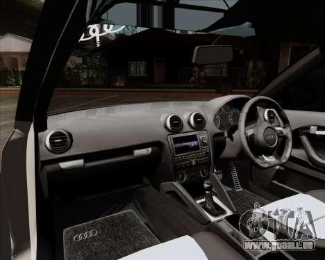 Audi S3 V.I.P pour GTA San Andreas vue intérieure