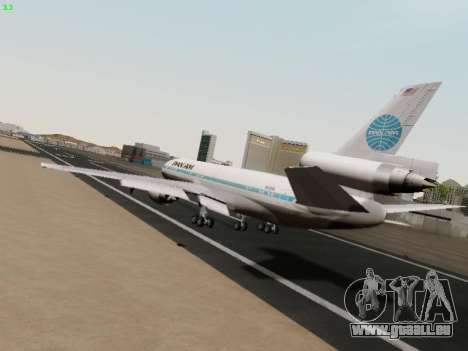 McDonell Douglas DC-10-30 PanAmerican Airways für GTA San Andreas rechten Ansicht