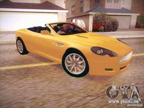 Aston Martin DB9 Volante v.1.0 für GTA San Andreas zurück linke Ansicht