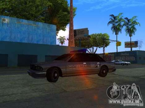 Lumpkin Country Sheriffs Office für GTA San Andreas linke Ansicht