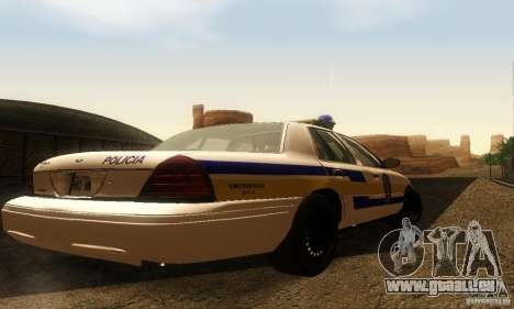 Ford Crown Victoria Puerto Rico Police für GTA San Andreas linke Ansicht