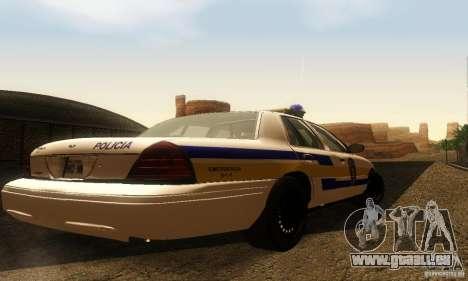 Ford Crown Victoria Puerto Rico Police pour GTA San Andreas laissé vue