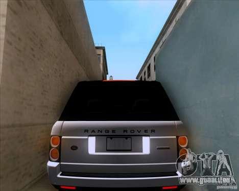 Range Rover Hamann Edition für GTA San Andreas obere Ansicht