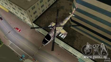 Mi-24 HindB pour GTA Vice City sur la vue arrière gauche