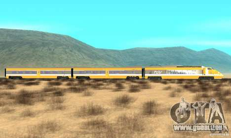 TGV SOUTH WEST für GTA San Andreas linke Ansicht
