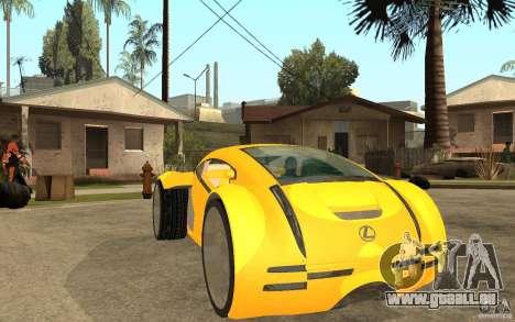 Lexus Concept 2045 für GTA San Andreas Rückansicht