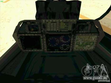 F-14 Tomcat Razgriz pour GTA San Andreas vue de dessus